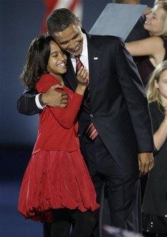 Obama and his daughter, Malia