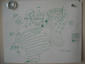 Map of island