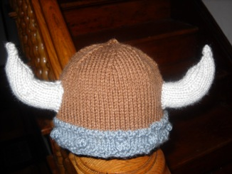 knit viking hat   Tracey Baptiste