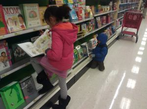 My guys reading at Target.