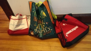 The tote bag haul wasn't too shabby either.